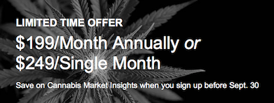"NASDAQ Start Co-Publishing Program On New Report Series ""Cannabis Insights A look into the legal Cannabis market"" With Cannabis Benchmarks"