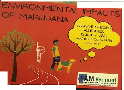 Vermont Chapter of National Cannabis Prohibitionist Group Smart Approaches To Marijuana (SAM) Engages In Dirty Tricks Campaign