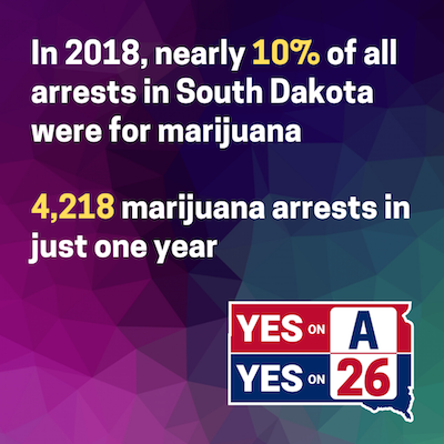 Report: 1 in 10 Arrests In South Dakota  Cannabis related