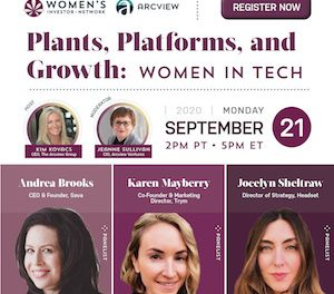 Women In Tech – Cannabis: Plants, Platforms and Growth