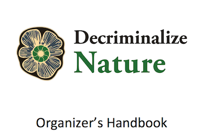 New Publication – Free Download: Decriminalize Nature – Organizer's Handbook