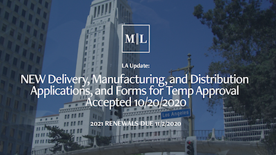 What To Expect: Los Angeles DCR begins accepting online applications for new licenses and modifications to existing applications.