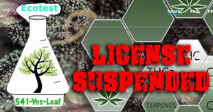 OLCC Suspends Marijuana Laboratory Licensee Marijuana products tested at unlicensed location