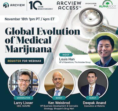Arcview Access™ – Global Evolution of Medical Marijuana