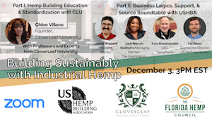 Building Sustainably with Industrial Hemp.