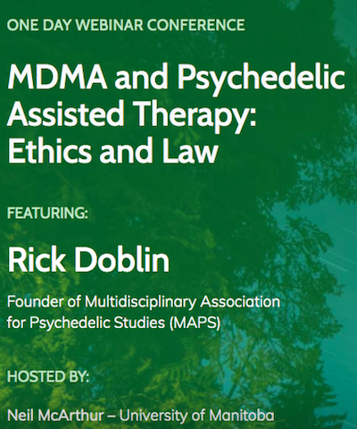 MDMA & Psychedellic Assisted Therapy – Ethics & Law (Canada)