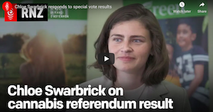 New Zealand: Chloe Swarbrick (Greens Party)  responds to special vote results