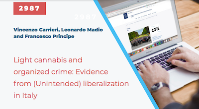 """Paper: """"Light Cannabis and Organized Crime: Evidence from (Unintended) Liberalization in Italy"""""""