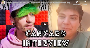 INTERVIEW WITH CANCARD (the new UK medical card from November 1st)