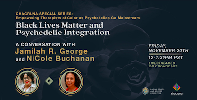 Webcast:  Black Lives Matter & Psychedelic Integration: Pathways to Radical Healing Amidst Ongoing Oppression
