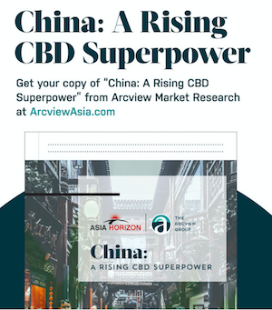 Arcview Publish Report:  China A Rising CBD Superpower