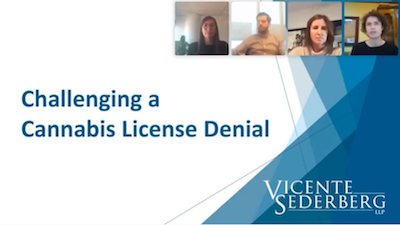 Vincente Sederberg: Challenging Cannabis Licensing Denials Nov 12, 2020