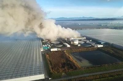 Canada: Huge Fire At Empty Canopy Greenhouse Over The Weekend