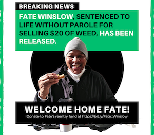 Fate Winslow released from Louisiana State Penitentiary at Angola