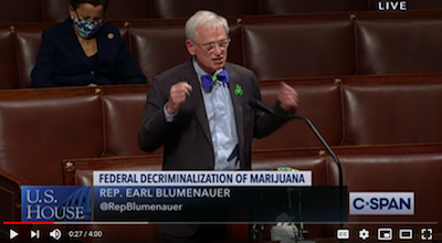 Rep. Blumenauer Speaks on Historic Cannabis Reform Legislation