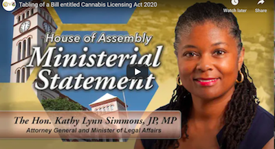 Bermuda: December 11 2020:  Tabling of a Bill entitled Cannabis Licensing Act 2020