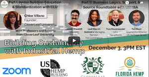 The Florida Hemp Council: Building Sustainably with Industrial Hemp (9 December 2020)