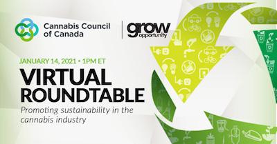 14 January 2021: Cannabis Council of Canada's Tri-Chair Sustainability Caucus