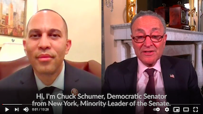 30 December 2020: Senator Schumer and Rep. Jeffries talked about ending the federal prohibition on marijuana: