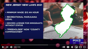New laws in New York, New Jersey starting on Jan. 1, 2021
