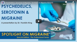 Video: Psychedelics, Serotonin & Migraine – Spotlight on Migraine S2:Ep23