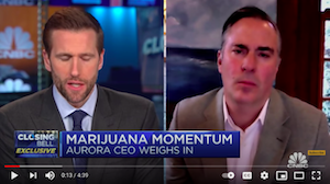 CNBC Jan 8, 2020: Aurora CEO on the demand for marijuana in the U.S.