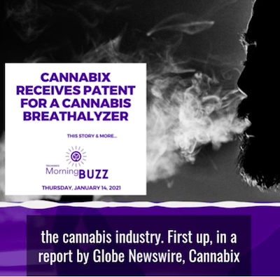 14 January 2021: Cannabix Receives Patent for a Cannabis Breathalyzer