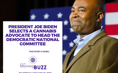 January 21 2021: President Joe Biden Selects a Cannabis Advocate to Head the DNC