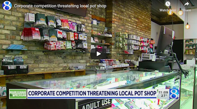 January 19 2021: Corporate competition threatening local pot shop in Michigan