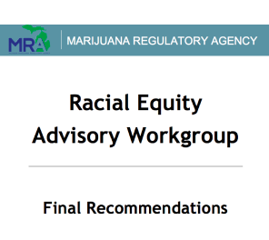 Michigan Marijuana Regulatory Agency Racial Equity Advisory Workgroup Final Recommendations(pdf)
