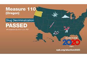 Oregon. Ballot Measure 110 Goes Into Effect Feb. 1 2021