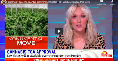 February 1 2021: Australia: Over-the-counter medicinal cannabis CBD will be available this week