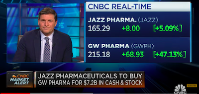 February 4 2021: Jim Cramer on Jazz Pharmaceuticals buying GW Pharma for $7.2 billion