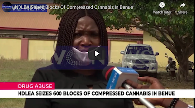 February 4 2021: Nigeria – NDLEA Seizes Blocks Of Compressed Cannabis In Benue