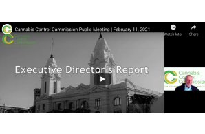 February 17 2021: Massachusetts Cannabis Control Commission Public Meeting | February 11, 2021