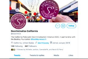 Decriminalize Psilocybin California 2022 Push Starts Now