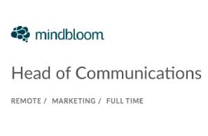 Mindbloom – Head of Communications