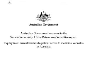 Australian Commonwealth Tables Resonse To 2020 Medical Cannabis Enquiry