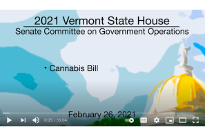 March 13 2021: Vermont State House – Cannabis Bill 2/26/2021