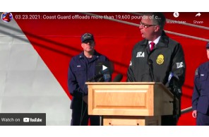March 23 2021: Coast Guard offloads more than 19,600 pounds of cocaine, marijuana in Alameda, Calif.