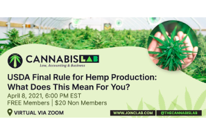 USDA Final Rule for Hemp Production & The Delta 8 Controversy: A Virtual Panel Discussion