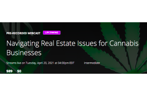 Navigating Real Estate Issues for Cannabis Businesses
