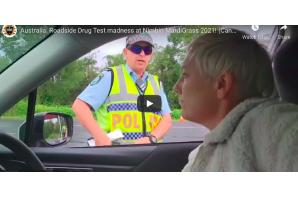 Australia: Roadside Drug Test madness at Nimbin MardiGrass 2021!