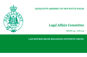 NSW 2013 Report: Law Reform Issues Regarding Synthetic Drugs