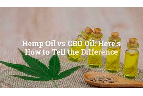 Are Hemp Oil And CBD Oil Different Products?