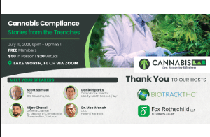 15 July: Cannabis Compliance – Stories from the Trenches