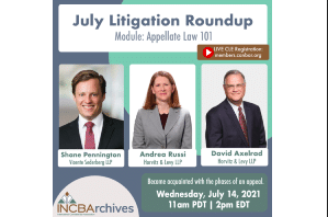 CLE Webinar Appellate Litigation in the Cannabis Industry Wednesday, July 14th,11 a.m. PDT