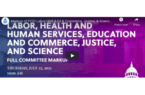 Markup of FY22 Labor-HHS & Ed & Commerce, Justice, & Science Bills (EventID=113908) - Provisions For Medical Cannabis