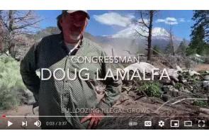 Rep. LaMalfa bulldozes organized crime grow site under judges order for destruction