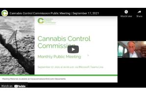 Massachusetts: Cannabis Control Commission Public Meeting | September 17, 2021